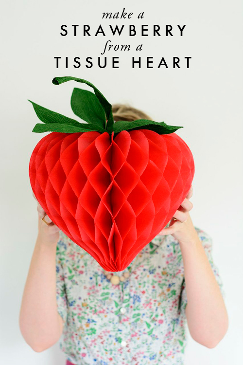 make-a-strawberry-from-a-tissue-heart